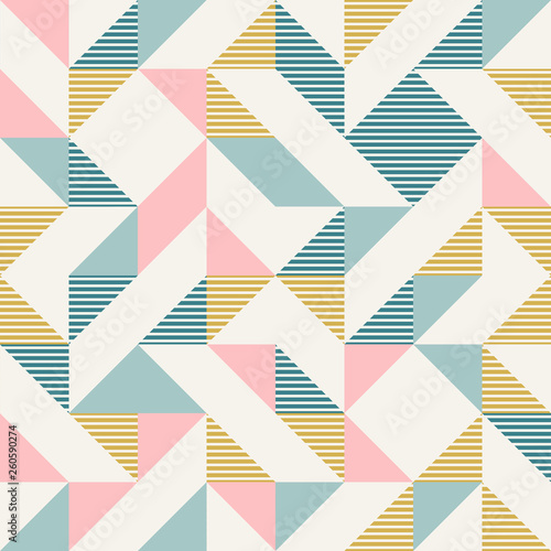 fototapeta na ścianę Abstract geometry in retro colors, diamond shapes geo pattern