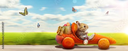 Osterhase unterwegs zum Osterfest! - 260595007