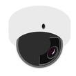 Security camera flat illustration