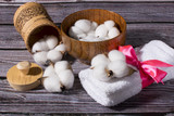 Zabiegi spa i bawełna. Naturalne składniki do zabiegów.
