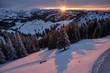 canvas print picture - Schweizer-Alpen, Sicht vom Kronberg