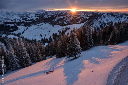 canvas print picture Schweizer-Alpen, Sicht vom Kronberg