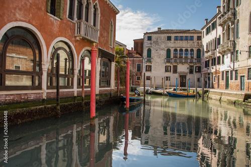 canal (Rio del Malcanton) in Venice,Italy, 2019