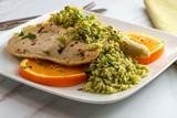 Orange Chicken Green Rice