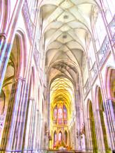 "Постер, картина, фотообои ""Interior of Church - watercolor ."""