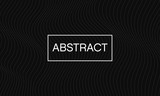 Abstract line wave black vector background