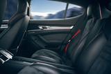 Back seats of modern luxury car