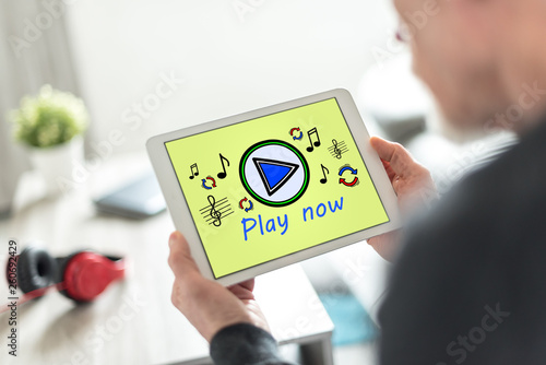 Online music concept on a tablet - 260692429
