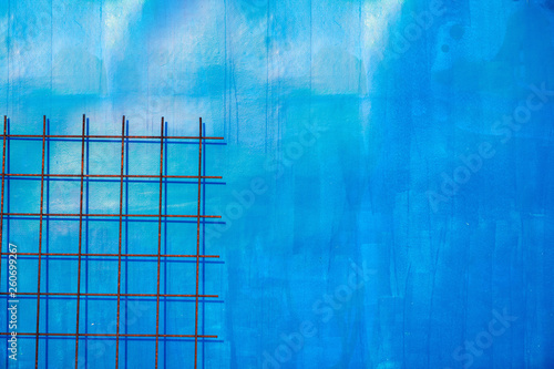 Blue urban abstract detail as background - 260699267
