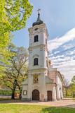 Novi Sad, Serbia - April 06, 2019: Church Nikolajevska Porta at Novi Sad in Serbia. The Nikolajevska church is the smallest Orthodox church in Novi Sad. The church dates from the thirties of the 18th.