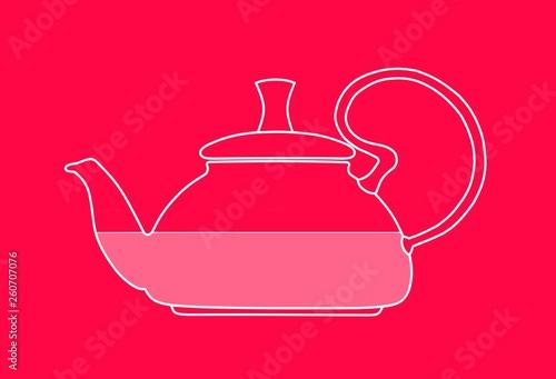 red tea pot inside © Вера Клюева