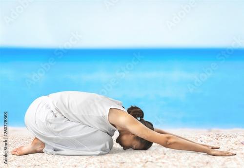 Leinwanddruck Bild Yoga.