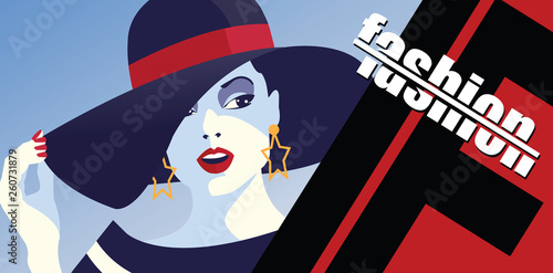 Fashion woman in style pop art. © Yevhen