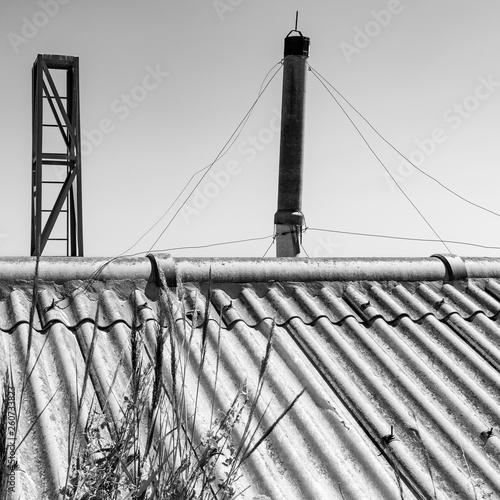 Fototapeten Brooklyn Bridge Construcciones abandonadas