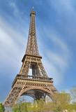 Fototapeta Fototapety z wieżą Eiffla - famous eiffel tower  on the sky in Paris - France © coco