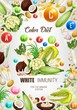 Color diet white healthy immunity food nutrition
