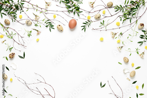 Easter natural background with copy space for a text
