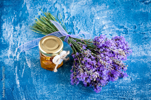 Lavender bouquet with oil