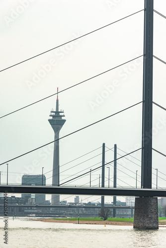 canvas print picture Düsseldorf am Rhein