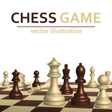 Chess game competition vector design illustration