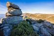 Quadro Riscos en la Sierra Paramera en un día soleado. Avila. España. Europa.