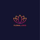 lotus vector floral logo