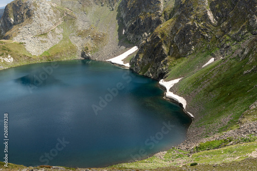 Amazing landscape with The Eye lake at The Seven Rila Lakes, Rila Mountain, Bulgaria © Stoyan Haytov