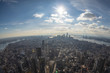 View from Empire State Building on New York