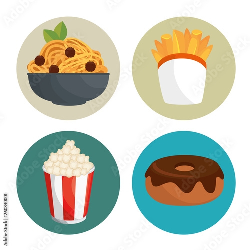 fast food icon set © Gstudio Group