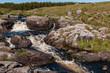 Quadro Irlanda. Parco nazionale di Connemara. Area naturale protetta dell'Irlanda occidentale caratterizzata da montagne suggestive (catena montuosa delle Dodici Cime), distese di torbiere, praterie e boschi