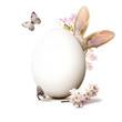 Leinwandbild Motiv Ostern Kollage mit Osterhase