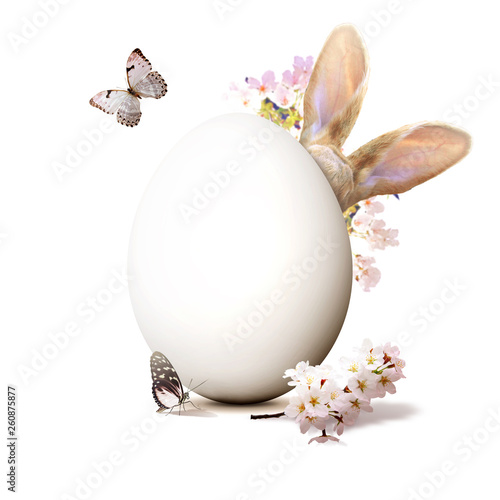 Ostern Kollage mit Osterhase - 260875877