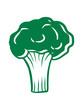 canvas print picture - gesund brokkoli vitamine gemüse essen ernähren lecker hunger kochen blumenkohl comic cartoon lustig clipart design