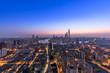 Quadro Shanghai skyline and cityscape at dawn