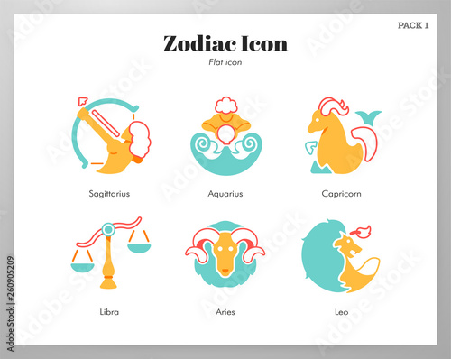 Zodiac icon flat pack © Chanut-is