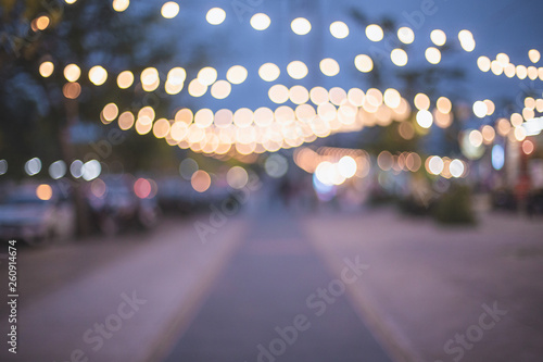Abstract bokeh of road background - Image - 260914674