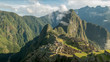 iconic view of machu picchu on a misty morning