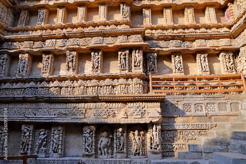 Rani ki vav, an stepwell on the banks of Saraswati River in Patan. A UNESCO world heritage site in Gujarat, India