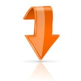 Orange down 3d button