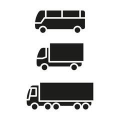 Pojazdy transportowe. Zestaw ikon wektor