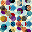 Classic polka dot pattern in a patchwork collage style.