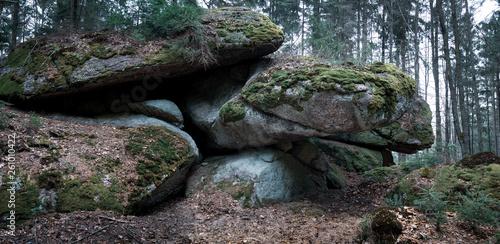 Panorama mystische Steinformationen im Waldviertel - 261010422