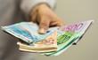 Leinwandbild Motiv finance  money - Banknotes of the  european  union.