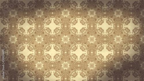Brown Vintage Ornamental Pattern Background - 261036491