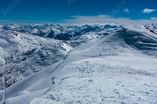 canvas print picture Skitour Gilfert Bergpanorama Schneelandschaft