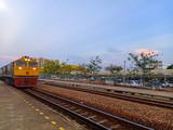 A train waiting for passengers at Salaya Station.