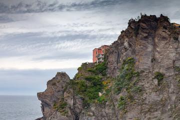 Corniglia village in Cinque Terre, Italy.