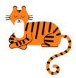 Tiger flat illustration