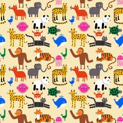 Animal pattern flat illustration