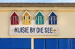 canvas print picture - Verzierung an einem Strandhaus in den Niederlanden